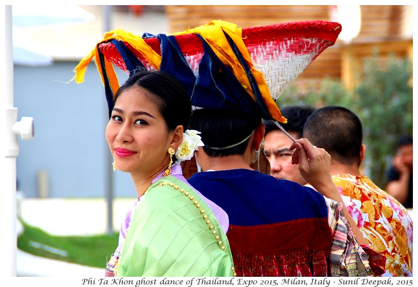 Phi Ta Khon ghost dancers of Thailand, Expo 2015, Milan, Italy - Images by Sunil Deepak