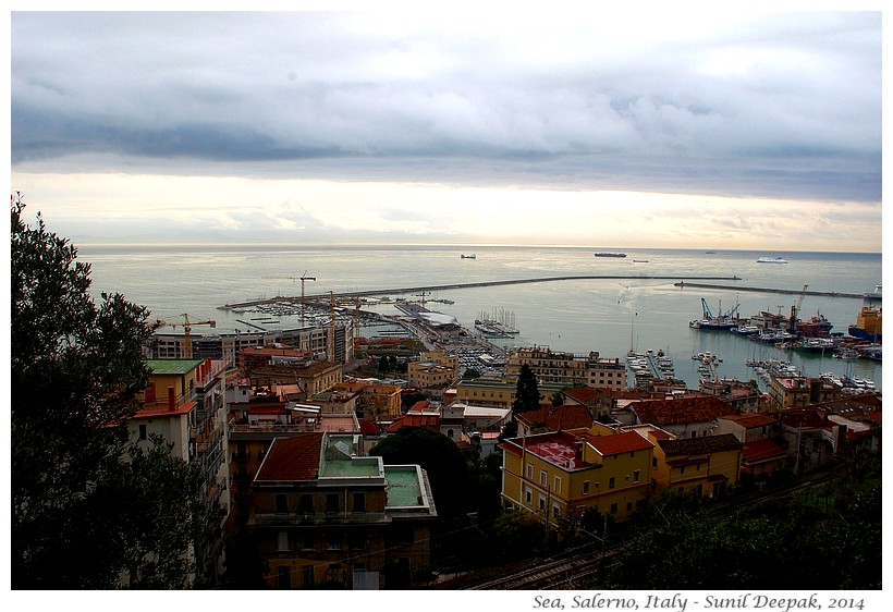 Panorama Bay of Salerno, Italy - Images by Sunil Deepak