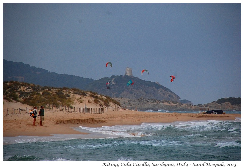 Kiting in Cala Cipolla, Sardinia, Italy - Images by Sunil Deepak