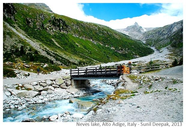 Lakes & bridges, Alto Adige, Italy - Sunil Deepak, 2013