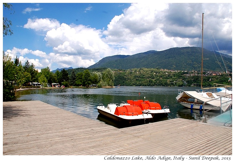Boats, Caldonazzo Lake, South Tyrol, Italy - Images by Sunil Deepak