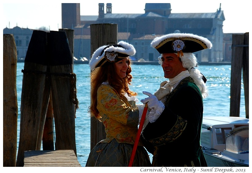 Couples, Venice carnival, Italy - Images by Sunil Deepak