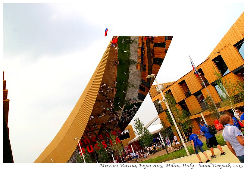 Mirrors at Expo 2015, Milan, Italy - Images by Sunil Deepak, 2015