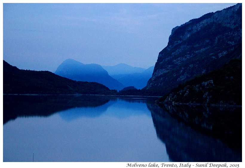 Evening, Molveno lake, Trento, Italy - Images by Sunil Deepak