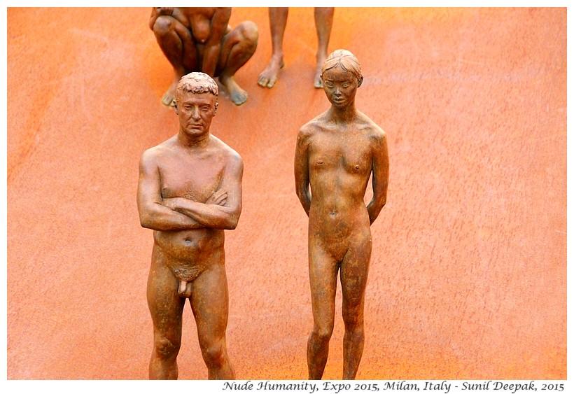 Nude human sculptures, Expo 2015, Milan, Italy - Images by Sunil Deepak