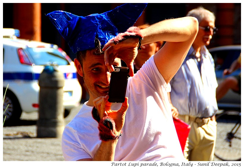 Photographers at Partot Lupi parade, Bologna, Italy - Images by Sunil Deepak