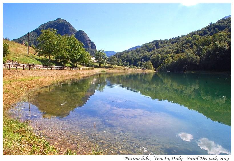 Posina lake, Veneto, Italy - Images by Sunil Deepak