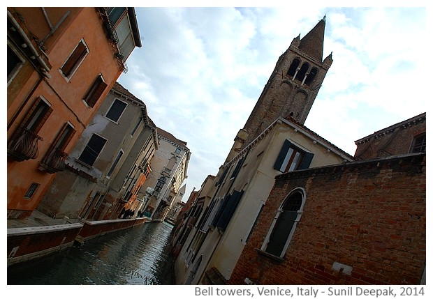 Bell towers, Venice, Italy - images by Sunil Deepak, 2014