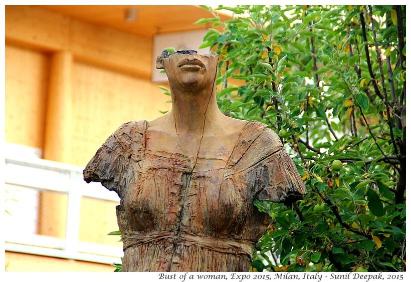 Women sculptures, Expo 2015, Milan, Italy - Images by Sunil Deepak