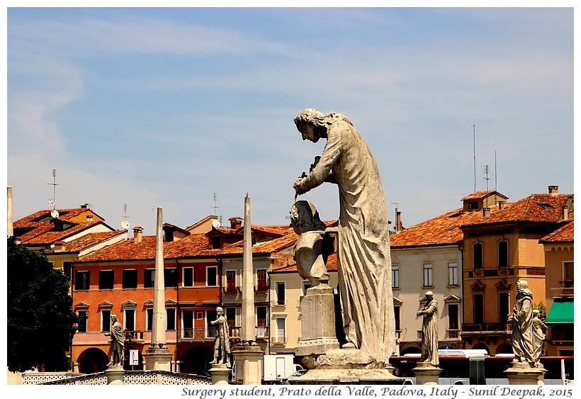 Antonio Canova statue, Prato della Valle, Padova, Italy - Images by Sunil Deepak