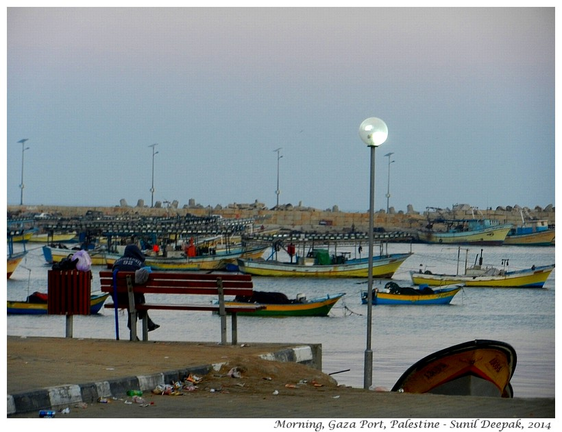 Early morning at Gaza Port, Palestine - Images by Sunil Deepak