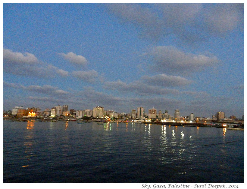 Sky of Gaza, Palestine - Images by Sunil Deepak