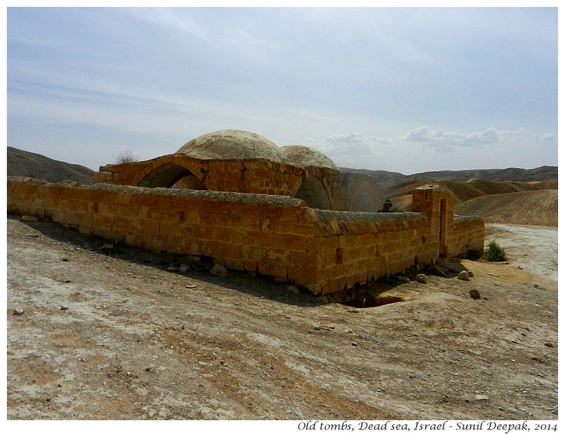 Abandoned mausoleum, Dead Sea, Israel - Images by Sunil Deepak