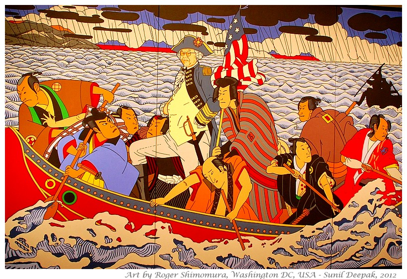Japanese american - art by Roger Shimomura - Images by Sunil Deepak