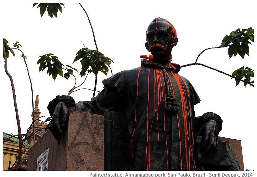 Boscolo statue, Anhangabau park, Sao Paolo, Brazil - Images by Sunil Deepak, 2014