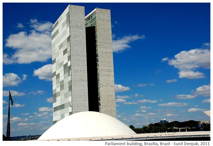 National parliament building, Brazilia, Brazil - Images by Sunil Deepak, 2011