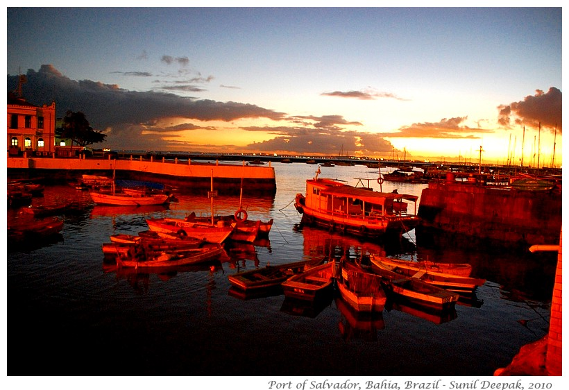 Evening at Port of Salvador, Bahia, Brazil - Images by Sunil Deepak