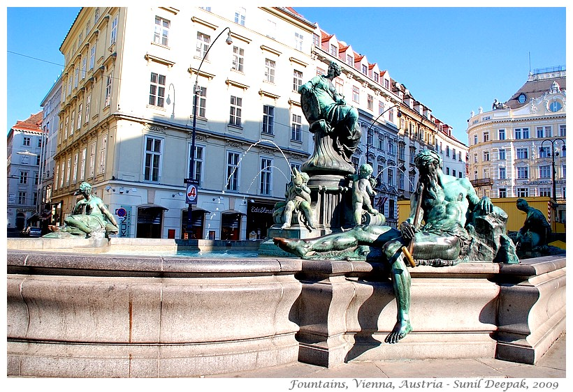 Around the World in 30 beautiful Fountains - Vienna, Austria - Images by Sunil Deepak