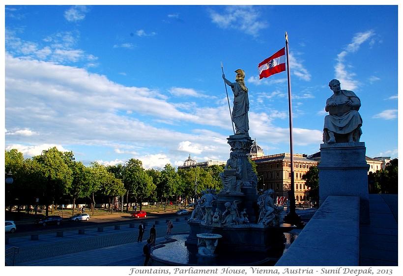 Around the World in 30 beautiful Fountains - Vienna, Austria - Images by Sunil Deepak