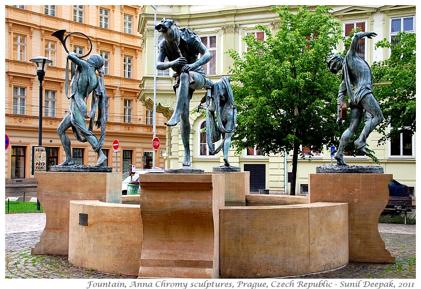 Around the World in 30 beautiful Fountains - Prague, Czech Republic - Images by Sunil Deepak