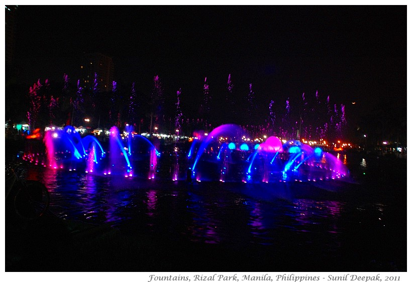 Most beautiful fountains - Philippines, Manila - Images by Sunil Deepak