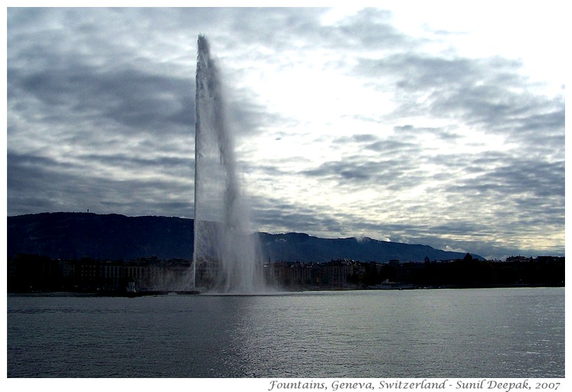 Most beautiful fountains - Switzerland, Geneva - Images by Sunil Deepak