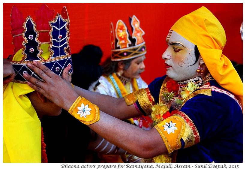 Bhaona actors prepare, Majuli, Assam, India - Images by Sunil Deepak