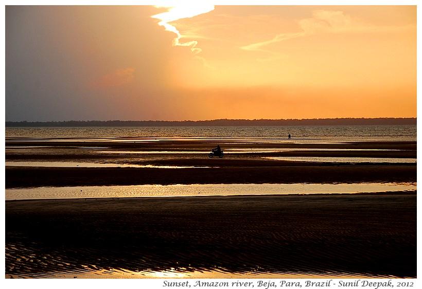 Sunset, Amazon, Para, Brazil - Images by Sunil Deepak