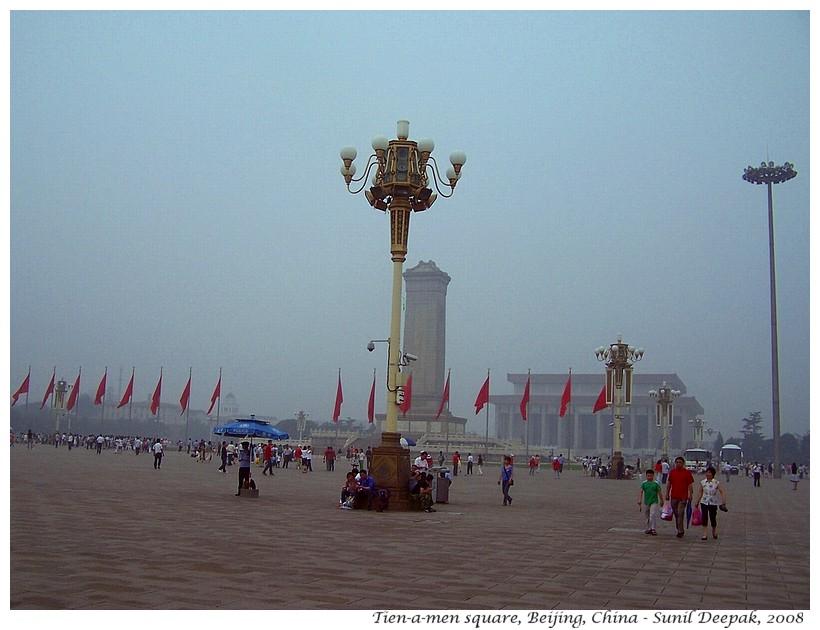 Tien-a-men square, Beijing, China - Images by Sunil Deepak