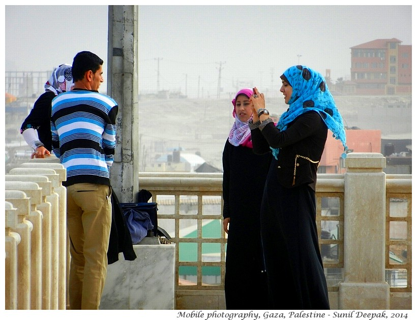 Mobile photography, Gaza, Palestine - Images by Sunil Deepak