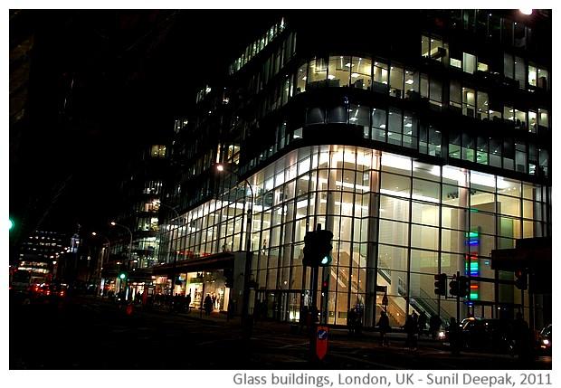Glass buildings, London, UK - Images by Sunil Deepak, 2011