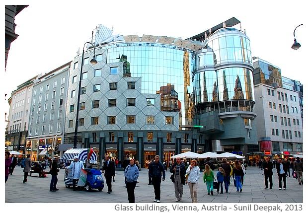Glass buildings, Vienna, Austria - Images by Sunil Deepak, 2013