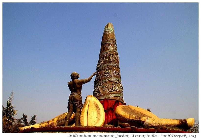 Columns with stories, Millennium monument, Jorhat, Assam, India - Images by Sunil Deepak
