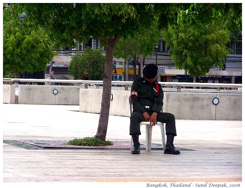 Falling asleep sitting, Bangkok, Thailand - Images by Sunil Deepak