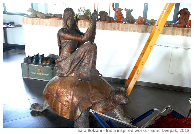 Sara Bolzani's India inspired sculptures - images by Sunil Deepak, 2013