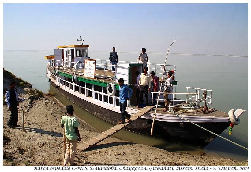 Barca ospedale di C-NES, Assam India - Images by Sunil Deepak, isole di Brahmaputra